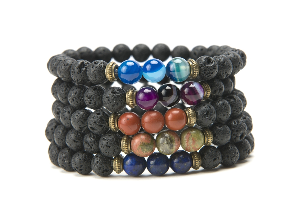 Product Photography - Jewelry lava stone bracelets