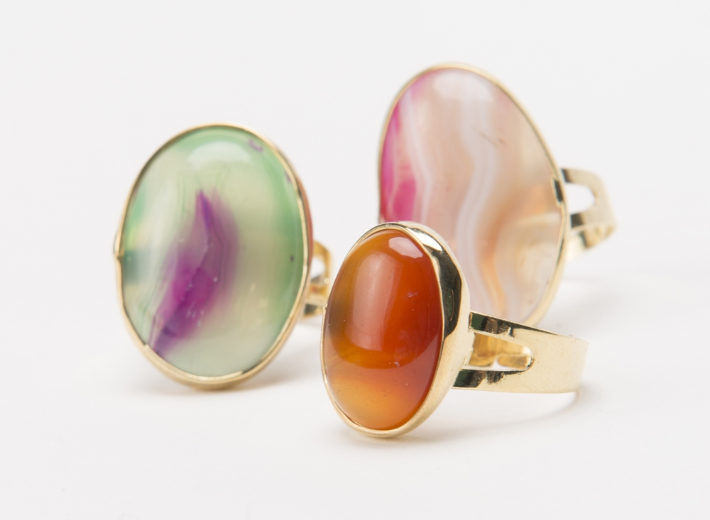 Product Photography - Jewelry Multicolored Gemstone Rings