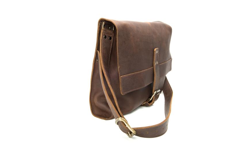 Product Photography - Robert Mason Leather messenger bag brown