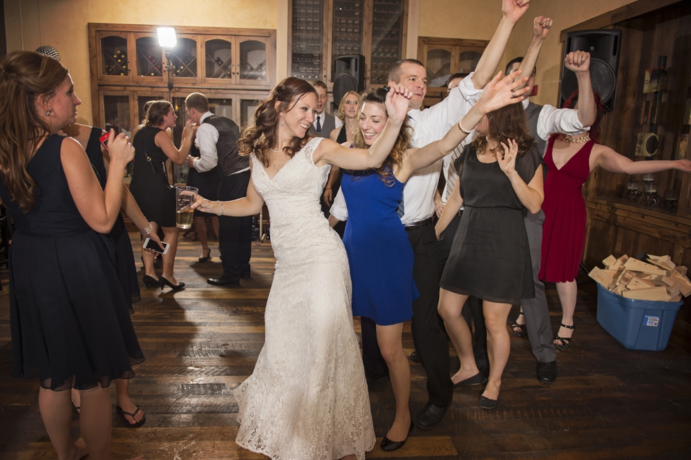 Wedding Photography - Reception Wedding Party Dancing