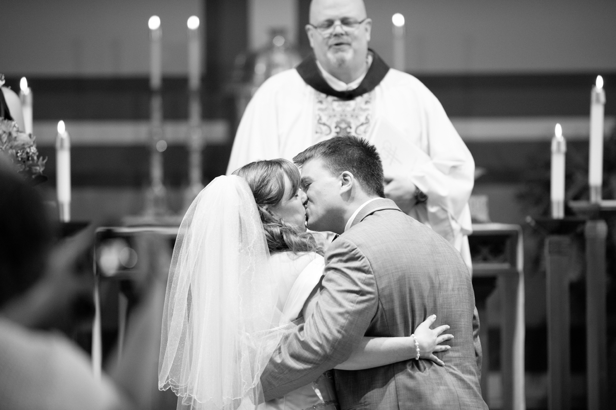 Wedding Photography - Ceremony First Kiss