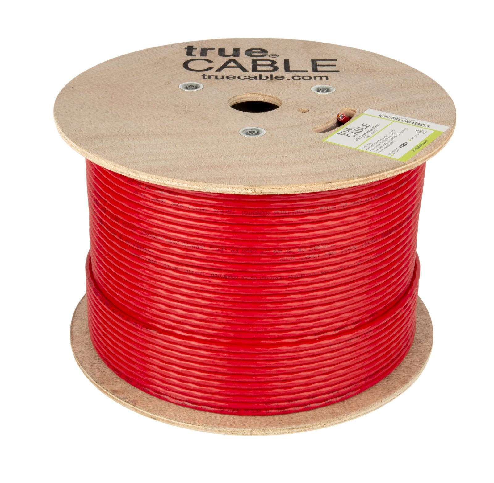True Cable red cable reel photographed by Robintek Photography