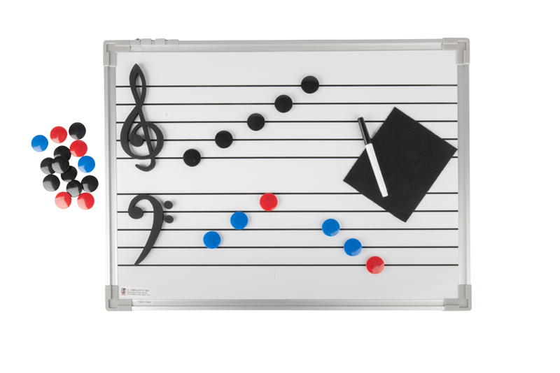 Music lesson dry erase board photographed by Robintek Photography