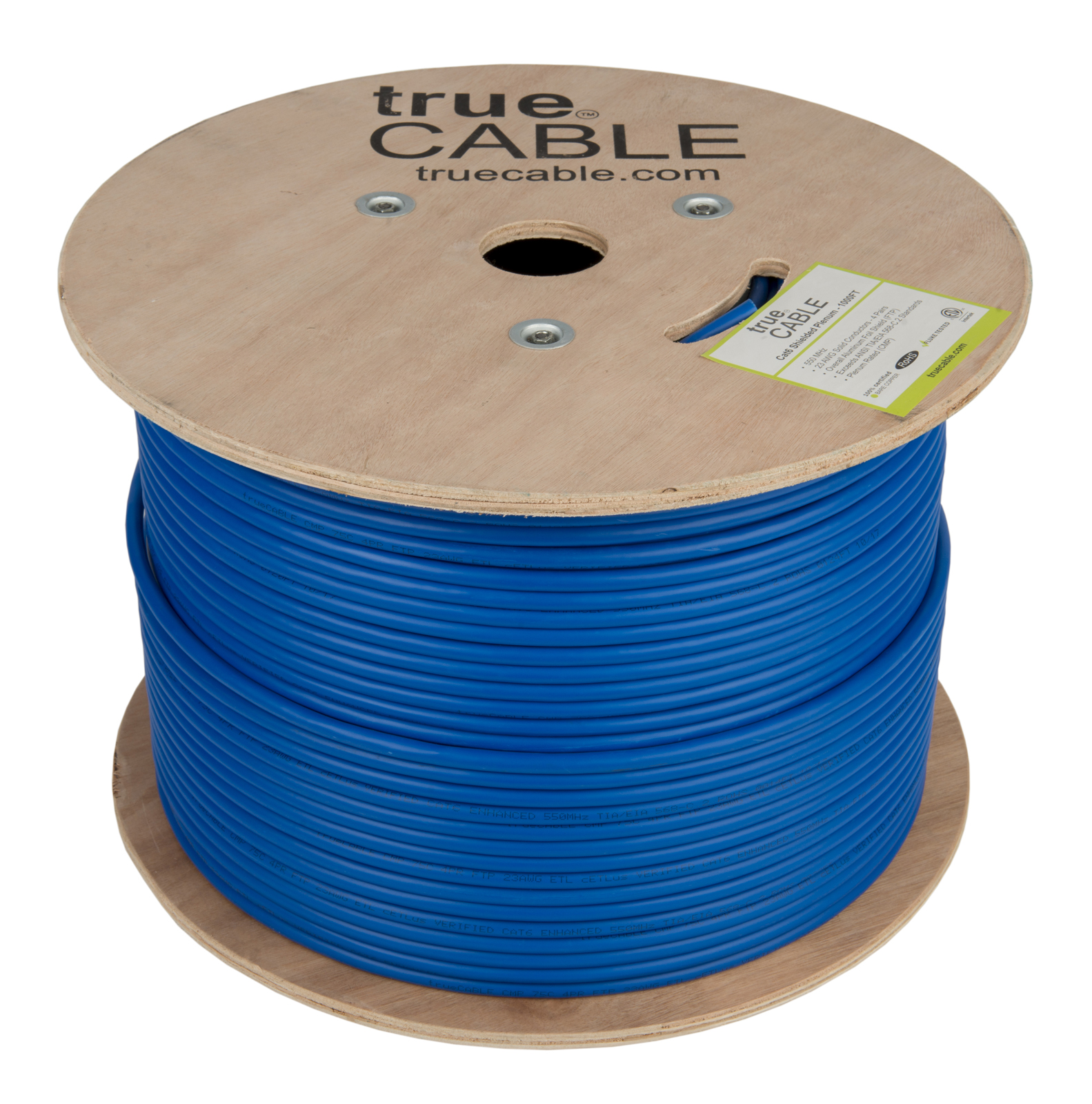 True Cable blue cable reel photographed by Robintek Photography