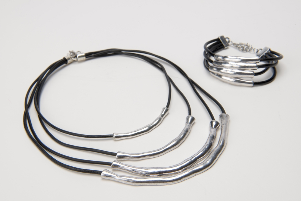 Columbus Ohio Product Photography - Silver Black Jewelry Necklace Bracelet