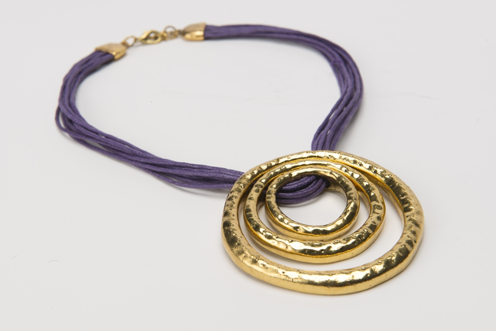 Columbus Ohio Product Photography - Gold Purple Jewelry Necklace