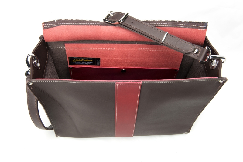 Product Photography - Robert Mason brown red leather bag