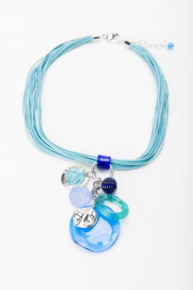 Product Photography - Jewelry Necklace Blue