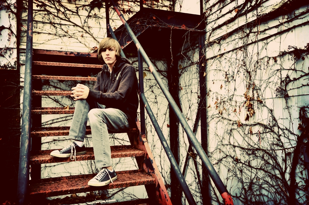 Senior Pictures - Urban - Iron Staircase
