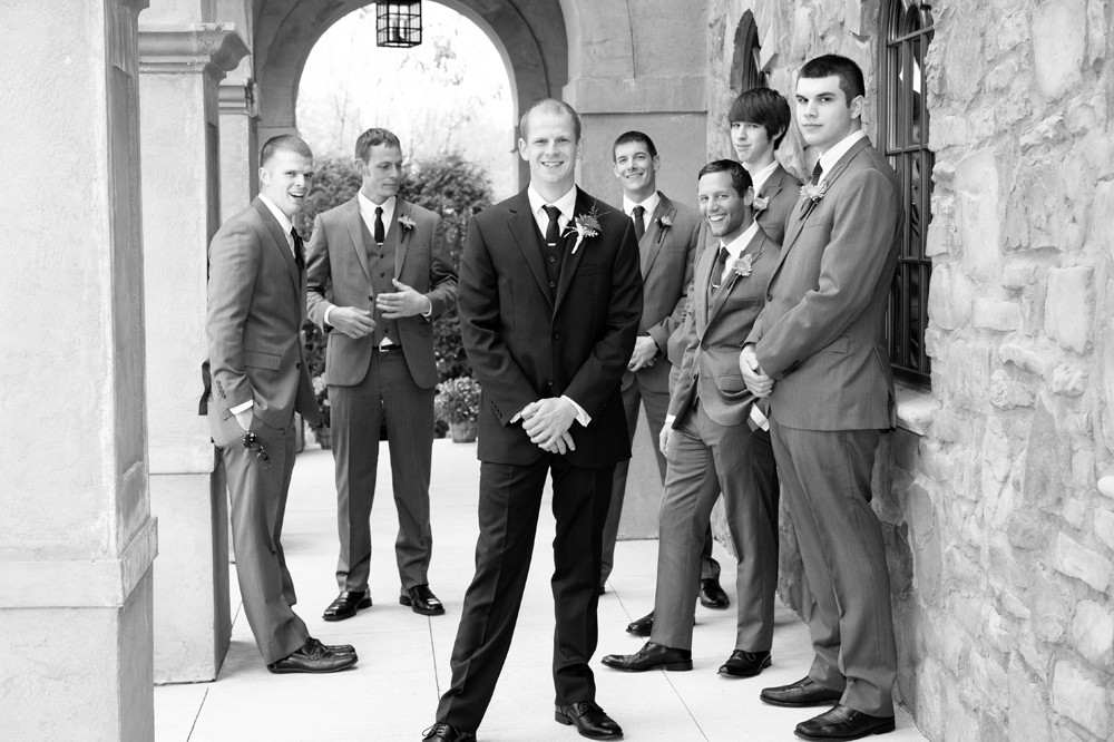 Wedding Photography - Groomsmen Portraits Black and White