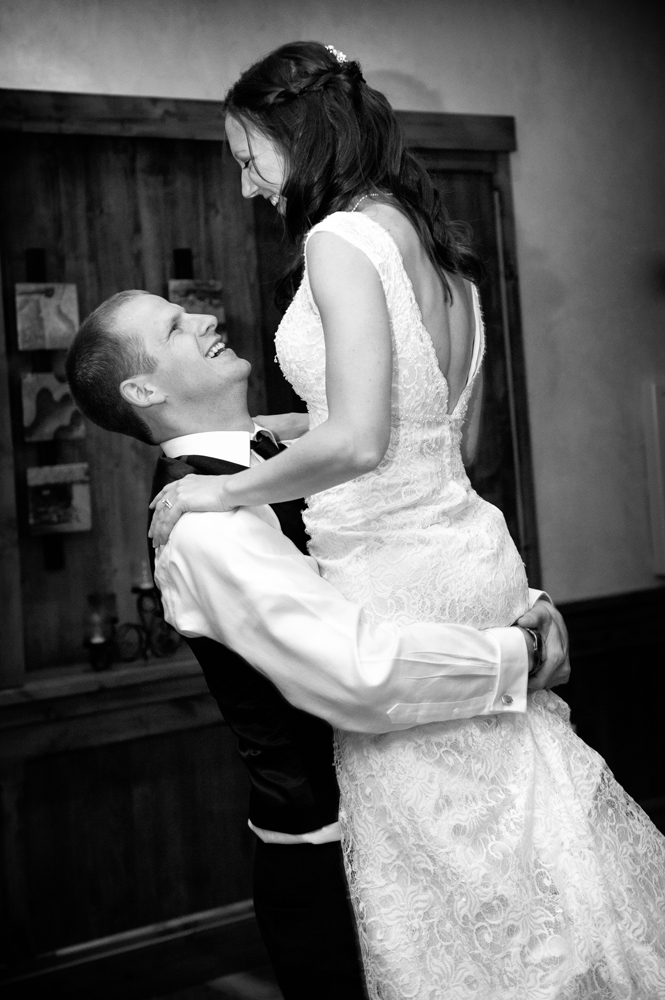 Wedding Photography - Reception Bride Groom Hug