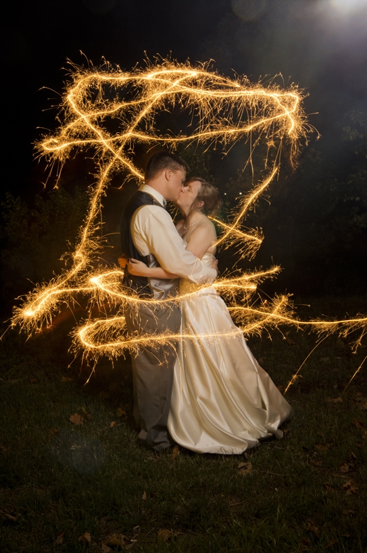 Wedding Photography - Bride and Groom Sparklers
