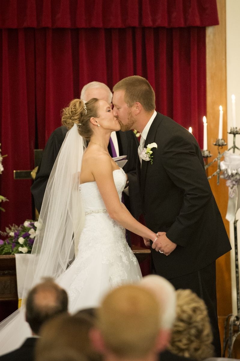 Wedding Photography - Ceremony - First Kiss